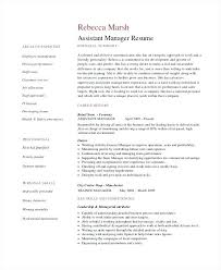 General Manager Resume Template Retail Assistant Manager Resume