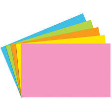 Index Card 3x5 Index Cards 3x5 Blank 100 Ct Brite Assorted