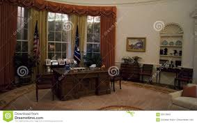 reagan oval office. SIMI VALLEY, CALIFORNIA, UNITED STATES - OCT 9, 2014: Exact Replica Of Ronald Reagan`s White House Oval Office Amazes Reagan