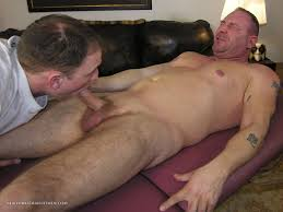 Daddy gets a blow job