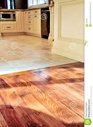 hardwood and tile floor dining house
