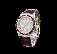 watch auction rolex 18kt white gold ruby and diamond daytona watch auction rolex 18kt white gold ruby and diamond men s daytona watch