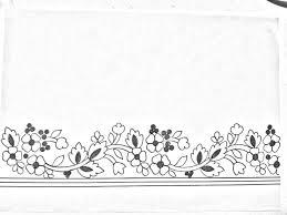 Flower Border Designs For Paper Saree Border Drawing Saree Border Designs On Paper Border Drawing