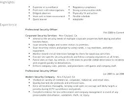 Sample Security Officer Resume Resume Security Guard Security Officer Resume Sample From Security