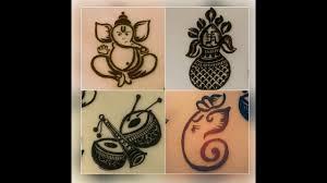 Ganpati Mehndi Design Learn How To Make Ganesh Ji Kalash And Shehnai By Mehndi