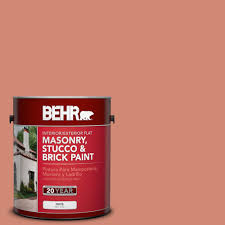 behr 1 gal m190 5 fireplace glow flat interior exterior masonry stucco and brick paint 27201 the home depot