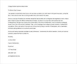 College Recommendation Letters New Letter Recommendation Template College Admission Samples Of Letters