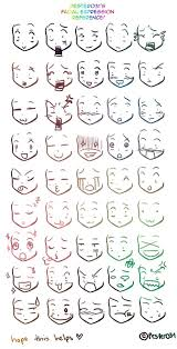 A Reference On Drawing Chibi Faces 3 Character Drawings Anime