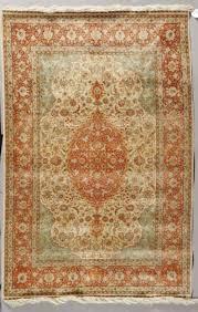 a hereke silk rug late 20th c