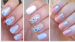 3 Cute and Easy Nail Art Designs for New Years! - YouTube