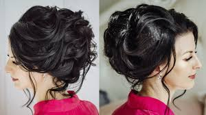 Dark Hair Style elegant curled updo for long dark hair youtube 1700 by wearticles.com