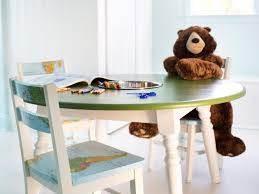 how to repurpose a dining table into a kids' activity table  how