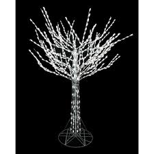 White Lighted Christmas Trees Outdoors 8 Ft Led Pre Lit Bare Branch Tree With White Lights In 2019