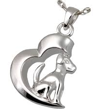 pet cremation jewelry in my heart dog pendant