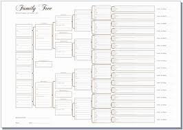 10 Generation Family Tree Excel Beautiful A3 Six Generation