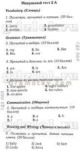ГДЗ Английский язык класс Быкова рабочая тетрадь spotlight Ответы по английскому языку spotlight 3 класс Быкова контрольные задания 1a 1b 2a 2b