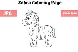 A creative zebra coloring book for adults. Zebra Coloring Page For Kids Graphic By Mybeautifulfiles Creative Fabrica
