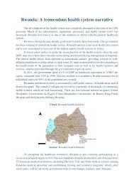 Narrative Development Chart Rwanda A Tremendous Health System Narrative
