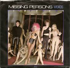 Missing Person Words Cool Missing Persons Words Vinyl At Discogs