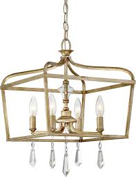 Minka Lavery 4 Light Minka Lavery 4447 582 Laurel Estate Crystal Ceiling Pendant Lantern Chandelier Lighting 4 Light Fixture 240 Watts Brio Gold