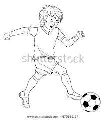 football soccer a cute footballer coloring book coloring page funny cartoon
