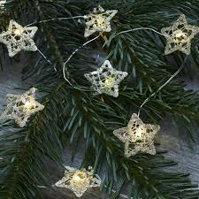 Gold Wire Christmas Tree Lights Edith Star Tree Lights