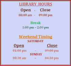 Image result for Riphah Library timing