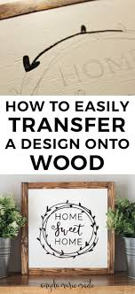 How to easily transfer a design onto wood   Diy wedding signs, Diy ...