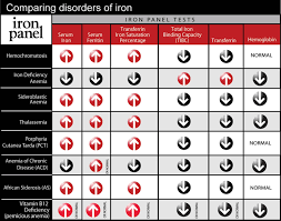 Blood Count Chart For Anemia Iron Disorders Institute Tests To Determine Iron Levels