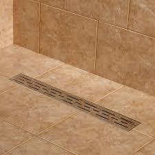 drain linear shower bathroom