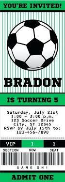 Soccer Party Invitations Editable Free Printable Soccer Birthday Invitation Templates