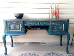 chalk paint furniture diyDIY Distressed Peacock Green Finish Using Chalk Paint 8 Steps
