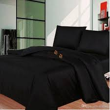 whole solid black bedding set modern au uk us single double queen king size bed duvet cover bed sheet bed linen pillowcases set queen size duvet covers