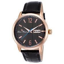 lucien piccard 40027 rg 01 mens milanese rose tone quartz watch image viewer