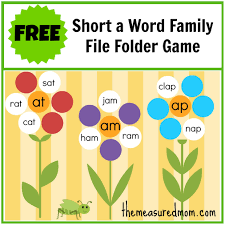Free Word Family File Folder Game Short A File Folder Games Free Printable Folder Games For ToddlerslllL