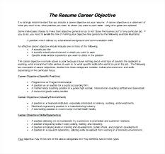 An Objective Statement For A Resume