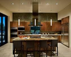 Southwestern l-shaped kitchen idea in Phoenix with flat-panel cabinets,  dark wood