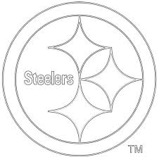Small Picture Free coloring pages of steelers logo Clip Art Library