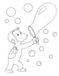 Curious George Coloring Pages Printable Christmas Worksheet