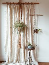 vintage lace curtain panels spectacular homespun linen and cotton crochet window panel coverlet decorating ideas 4