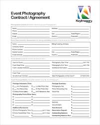 Commercial Event Photography Contract Download Template For Resume ...
