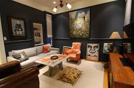 ... Tips For Cool Home Decor With Black Wall And Cream Carpet And Paint  With ...