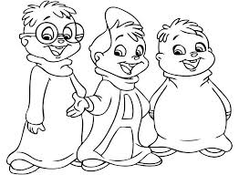 alvin and the chipmunks coloring pages colour colouring for preschoolers free complimentary 1366