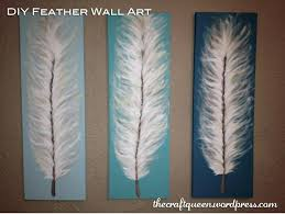 cloth canvas wall art ideas design acrylic paint feather plastic drop hanging craft queen furniture alternative