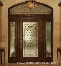 custom stained glass door sidelight transom windows