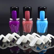 Us 0 79 28 Off 50 Pcs Nail Polish Uv Gel Color Pops Display Natural Nail Art Ring Style Nail Tips Chart Full Nail In False Nails From Beauty
