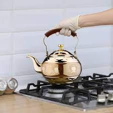 2l ıslık çalan Su ısıtıcısı Için Gaz Sobası Tüm Soba üstleri Paslanmaz  çelik Kahve çay Yükselen Su ısıtıcısı Ile ısıya Dayanıklı Kolu Demlik