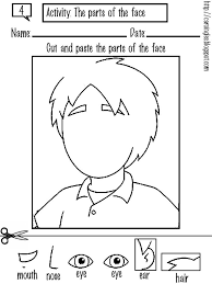 Printable Face Templates Delectable Face Body Parts Worksheets Cool Preschool Worksheets For Kids