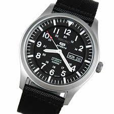 seiko 5 mens automatic 100m military watch snzg15k1 snzg15