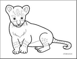 Small Picture Clip Art Baby Animals Lion Cub coloring page I abcteachcom